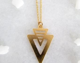 Sale Delicate Gold V Necklace - Geometric V Necklace, Geometric Jewellery, Delicate Necklace, Minimal Necklace, Minimalist Necklace, Trendin