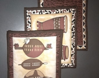 Quilted Place Mats - African designs