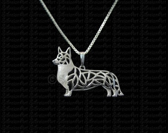 Cardigan Welsh Corgi - sterling silver pendant and necklace