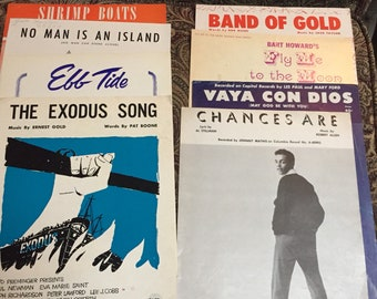 Sheet Music from 1950's - 7 songs