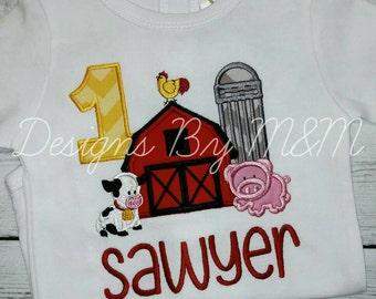 Farm Birthday Shirt, Barn Birthday Shirt, Barnyard Birthday, Farm Animal Birthday Shirt, Farm Animal Shirt