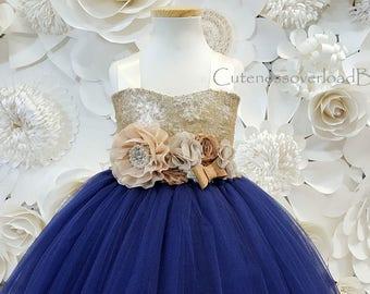 Navy Tutu Dress-Navy Flower Girl Tutu Dress-Navy Tutu-Navy Dress-Navy Girl Tutu-Navy Wedding Dress-Navy Bride Dress-Navy Baby Dress.