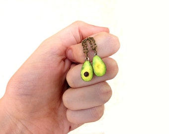 Avocado Necklace Charm Miniature Food Pendant