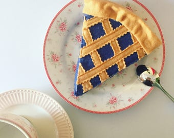 Felt food pretend play, felt blueberry pie, felt toys, tea party, Christmas gift, birthday gift, baby girl gift, handmade toy, felt cake