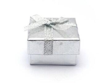 Silver - square jewelry box