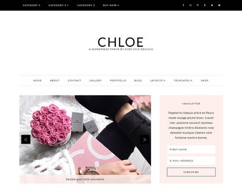 Chloe - Feminine WordPress Theme - Genesis Child Theme - SEO - Responsive - Static Front Page - Slider - Ecommerce - Portfolio - Blog