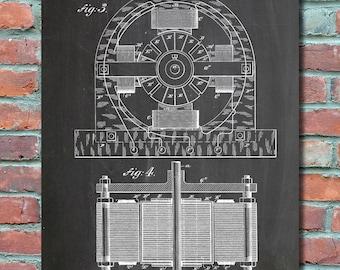 Talking telegraph patent wall art print patent art telegraph tesla electric motor 1888 wall art print patent art blueprint patent poster malvernweather Images