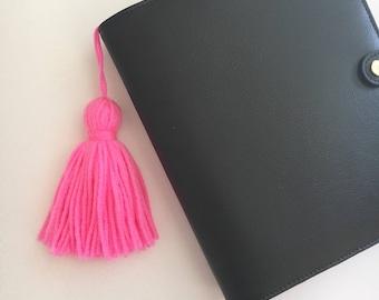 Hot Pink Planner Tassel/ Tassel Keychain / Handbag Accessory/ Planner Accessory