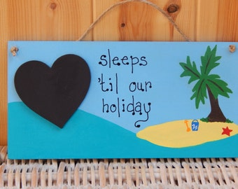 Holiday Countdown, Skiing holiday, Summer holiday planner, Family holiday planner, Chalkboard, Vacation planner