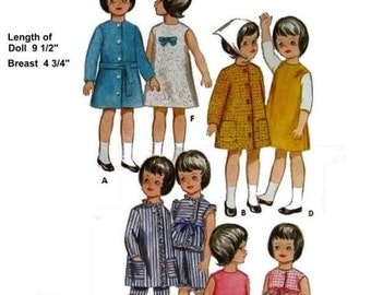 Pepper or Skipper Wardrobe Pattern for 9 inch to 9.5 inch Dolls