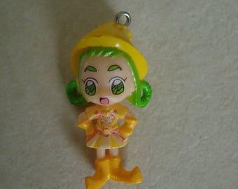 Pendant girl color yellow, green, orange
