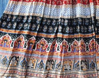 Gauzy Vintage Exotic Indian Broomstick Skirt