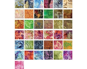Basically Batik Charm Pack 40 5-inch Squares By Benartex