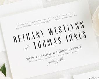 Mid Century Romance Wedding Invitations - Deposit