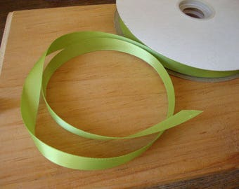 """apple green satin ribbon 5/8"""" wedding craft supplies 3 yards green party crafting gift wrap embellishments sewing hair accessories supplies"""
