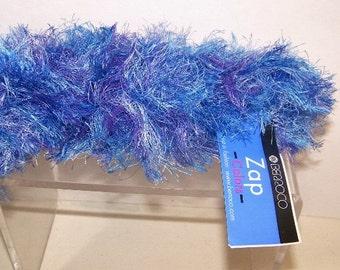 Berroco Fuzzy Fun Fur Zap Yarn Blue Multi 2 Hanks 3461