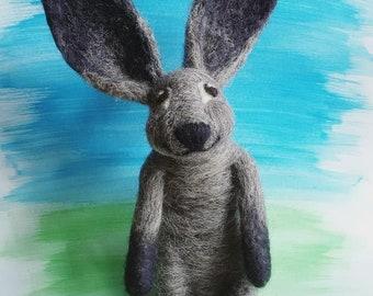 Bunny - Needle felted 100% wool
