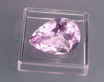18x13 pear natural amethyst gem stone gemstone faceted
