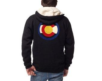 Colorado Buffalo Hippy Hoodie, Oatmeal and Navy