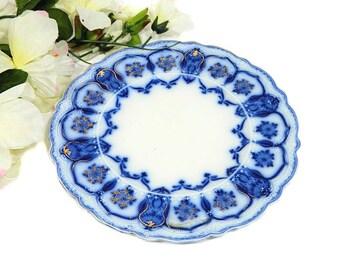Assiette à Dessert Eclipse bleu antique Johnson Bros flux