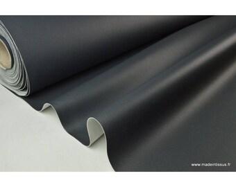 Faux cuirs ameublement rigide gris ardoise .x1m