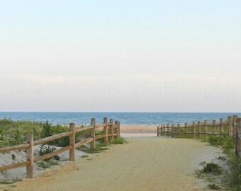 Beach Photography, Beach Cottage Art, Sunset Beach Print, Coastal Wall Art, Ocean Art, Beach Art Print,New Jersey Shore Fine Art Photography
