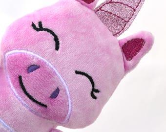 Unicorn | Plush Unicorn | Unicorn Stuffie | New Baby Gift | Baby Shower Gift | Pink Unicorn | Gift for Her | 1st Birthday Gift | Kawaii