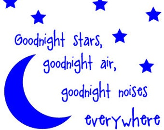 Goodnight Moon Wall Decal
