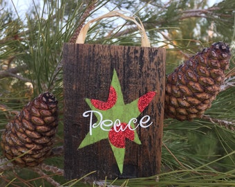 Holiday Peace Sign and Ornament