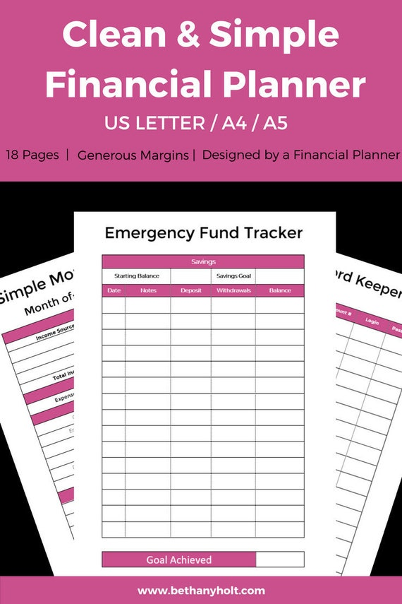 budgeting planner a5 planner finance tracking simple budget