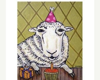25% off Sheep Birthday Art Print