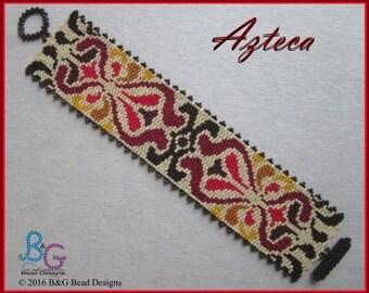 AZTECA Peyote Cuff Bracelet Pattern