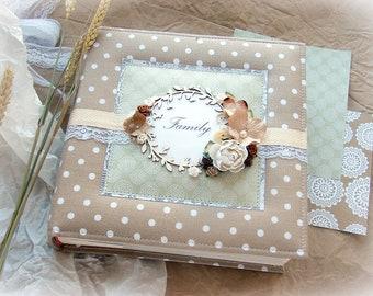 Baby Memory Book, Family photo album, Baby Album, Family Gift, Scrapbooking book, Scrapbook Album, Baby photo book, photo album gift