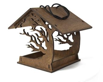 Bird feeder - Hanging bird feeder - Love birds - Birds house - Birdhouses - Wooden bird feeder - Garden decor - Patio decor - Garden gift