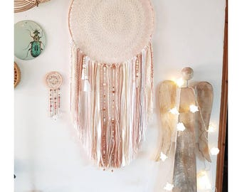 Bohemian pink dream catcher