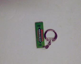 Vintage Wrigley's Doublemint Chewing Gum Stick Key Chain Advertising