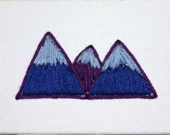 Made to Order Tiny Embroidery Mountains