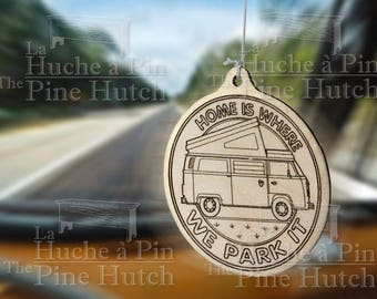 For car rearview mirror ornament: HOME