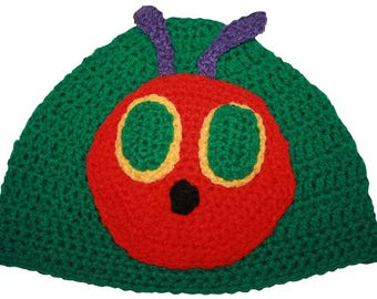 Hand Crocheted Hungry Caterpillar Hat HH 079