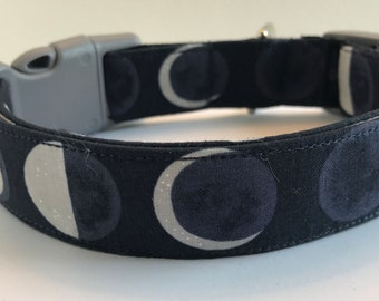 Phases of the Moon Dog Collar Size XS, S, M or L