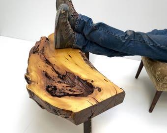 Natural Edge Wood Slab Coffee Table