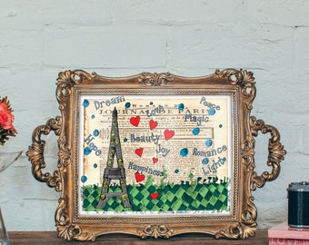 Paris Words Art Print - Jennifer Reid