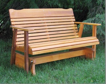 Breezy Hill Wood Products - 4 Ft Western Cedar Glider