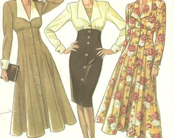 New Look vintage sewing pattern - Vintage high waist dress - Size 8-18