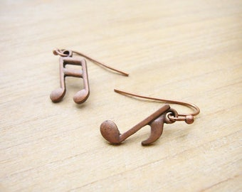 Music Note Earrings, Music Symbol Earrings, Music Lover Gift, Musician Gift, Gift for her, Musical Jewelry, Simple Earrings, Cute Gift