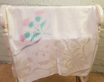 Lovely Thistle Design Square Vintage Table cloth