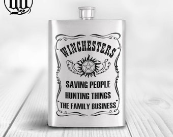 Winchesters - Saving People Hunting Things Hipflask - Gift SPN
