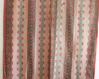 Gorgeous Vintage Kantha Quilt; free US shipping