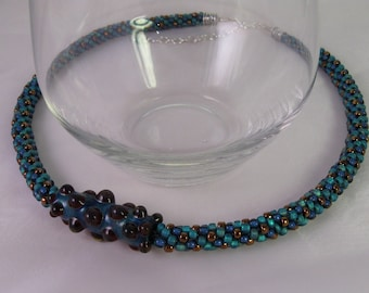 Blueberry Bliss Kumihimo Necklace