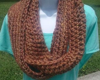 Crochet bulky Infinity Scarf,El paso,Adult,Teen,Neck warmer, Circle Scarf,Mens scarf,